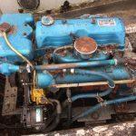 De huidige motor is een Ford Thornycroft, 70 pk 4.1 liter 4 cilinder diesel